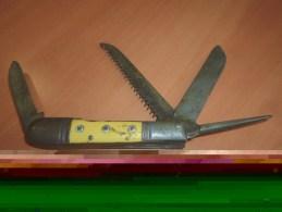 Couteau - Divers Lame Manche Jaune 3 Rivets - Knives/Swords