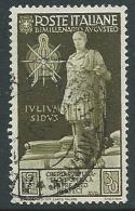 1937 REGNO USATO AUGUSTO 30 CENT - U38-2 - Usati