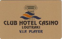 GREECE - Club Hotel Casino Loutraki(gold), VIP Member Card, Sample - Casino Cards
