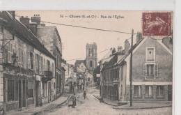 CHARS (95). Rue De L´Eglise. Angle De Rue - Chars