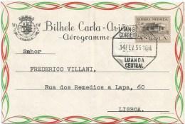 Angola 1956 Luanda $2.50 Radio Station Aerogramme - Angola