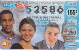 TARJETA DE PRINTELCARD 5 EUROS CON NUMERO DE LOTERIA (NOVIEMBRE 2004)  RARA - Sellos & Monedas