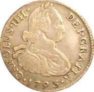 ESPAÑA. CARLOS IV. 2 REALES 1.793 LIMA. SPAIN. ESPAGNE - Sin Clasificación