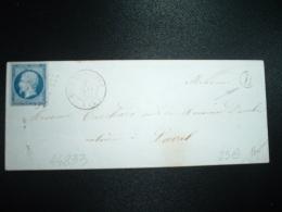 LETTRE TP EMPIRE ND 20c OBL. PC 1455  + 2 MAI 57 GREZ EN BOUERRE (51) (53 MAYENNE) + BOITE RURALE B - Marcophilie (Lettres)