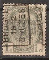 Rijkswapen Nr. 81 Voorafgestempeld Nr. 1818 Positie  A   BRUGGE 1912 BRUGES ; Staat Zie Scan ! - Voorafgestempeld