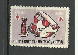 INDIA 1956 Tuberculosis Wohlfahrt Charity - Krankheiten