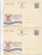 Entier CP Publibel Phoenix Assurances - Verzekeringen 1652 -1653 FN-NF Neuf-Nieuw-Mint EPR00672 - Publibels