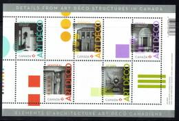 2011  Art Deco In Canada   Souvenir Sheet Of 5 Different  Sc 2471  MNH - 1952-.... Reign Of Elizabeth II