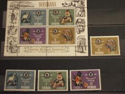 BOTSWANA - 1970 DICKENS 4 VALORI + BF - NUOVI(++) - Botswana (1966-...)