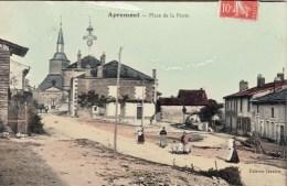 08 - APREMONT - Place De La Poste. CPA Glaçée - Altri Comuni