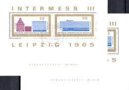 PF 800Jahre Messe Leipzig 1965 DDR Block 23+23 II O 28€ Hotel Error On The Bloc MDN Bloc Hb Architectur Sheet Bf Germany