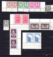 1952 Cantons De L'Est,  Croix De Lorraine Et Dragons,Eupen St.Vith  Barrage, 2 X  900 / 907**, Cote 160 €, - Belgique