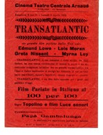 "04299 ""CINEMA TEATRO CENTRALE ARNAUD - AVIGLIANA - PROGRAMMA 2-3 APRILE 1933 - FILM TRANSATLANTIC"" ROMANZO DI GUY BOLTOD - Programmi"