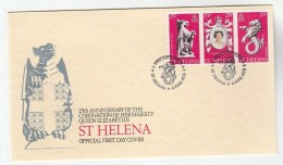 1978  ST HELENA FDC Stamps ROYAL CORONATION Anniv MYTHICAL SEA-LION (Lion With Fishtail) Royalty Dragon Cover Heraldic - Saint Helena Island