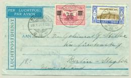 Nederlands Indië - 1931 - 15 Cent Jeugdzorg En 30 Cent Opdruk LP-zegel Op LP-brief Naar Berlin / Germany - Nederlands-Indië