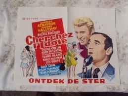Affiche Belge - Cherchez L´Idole - Charles Aznavour - Johnny Hallyday - Sylvie Vartan - Eddy Mitchell - Frank Alamo - Plakate & Poster