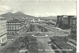 Napoli (Campania) Piazza Municipio E Stazione Marittima, Town Hall Square And Marittims Station - Napoli (Naples)