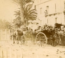 France Vacances En Cote D'Azur Caleche Ancienne Photo Amateur Stereoscope Pourtoy 1900 - Photos Stéréoscopiques