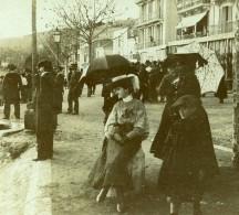 France Vacances En Cote D'Azur Hotel Central Ancienne Photo Amateur Stereoscope Pourtoy 1900 - Photos Stéréoscopiques