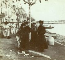 France Vacances En Cote D'Azur Marins Ancienne Photo Amateur Stereoscope Pourtoy 1900 - Photos Stéréoscopiques