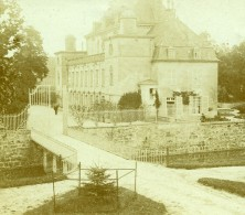 France Vacances En Cote D'Azur Maison De Maître? Ancienne Photo Amateur Stereoscope Pourtoy 1900 - Stereoscopic