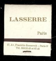 Boite D'allumettes LASSERRE Paris COMPLET - Boites D'allumettes