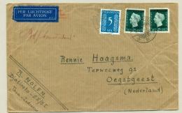 Nederlands Indië - 1949 - Mengfrankering Op LP-briefje Van Djatiroto Naar Oegstgeest / Nederland - Netherlands Indies