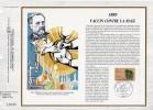 """FRANCE 1985 : Feuillet CEF N° 775  """" LOUIS PASTEUR / VACCIN CONTRE LA RAGE """" N° YT 2371. FDC - Louis Pasteur"""