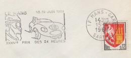 24h Du Mans - 1966 - Theme Automobile - Postmark Collection (Covers)