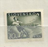 1943 MNH Slowakei, Slovensko, Soccer, Postfris** - Slovakia