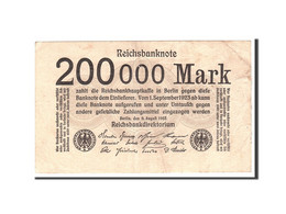 Allemagne, 200,000 Mark, 1923, KM:100, 1923-08-09, TTB - Otros