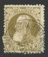Belgium,  20 C. 1905, Sc # 86, Mi # 72, Used - 1905 Thick Beard