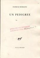 Modiano Un Pedigree Gallimard Epreuves Non Corigees - Livres, BD, Revues