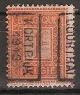 PELLENS Type Cijfer Nr. 108 Voorafgestempeld Nr. 2220 Positie B   KORTRIJK 1913 COURTRAI  ; Staat Zie Scan ! - Precancels