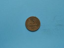 1946 - 3 Koneek - Y# 107 ( Uncleaned Coin / For Grade, Please See Photo ) !! - Russie