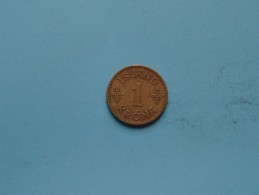 1929 - 1 Krona - KM 3.1 ( Uncleaned Coin / For Grade, Please See Photo ) !! - Islande