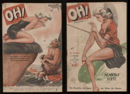 Oh! N°9 été 1949  Revue Légère Ancienne Bd Nus Humoristiques Nouvelles Frédéric Dard Etc Port Fr Métr  2,72€ - Livres, BD, Revues