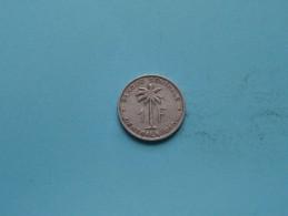 1958 - 1 Franc - KM 4 ( Uncleaned Coin / For Grade, Please See Photo ) !! - Congo (Belge) & Ruanda-Urundi