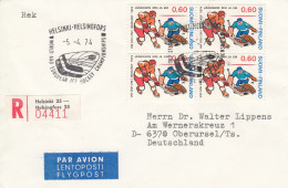 EISHOCKEY-ICEHOCKEY-HOCKE Y SUR GLACE-HOCKEY SU GHIACCIO, FINLAND, 1974, RECO/Special Postmark !! - Hockey (su Ghiaccio)