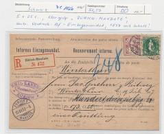Schweiz - Alte Firmen Post -Mandat Vordruck    ( Ze 1026  )  Siehe Bild - 1882-1906 Coat Of Arms, Standing Helvetia & UPU