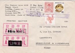 Corea Printed Matter Posted To Luxembourg (G41-88) - Corea Del Sud