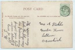 Single Circle - Croston (Lancs) - On PC Of Lynton - Postmark Collection