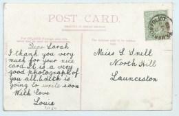 Single Circle - Tamerton Foliot (Devon) On PC Of Plymouth - Postmark Collection