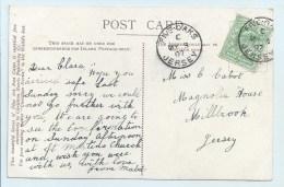 Single Circle - Five Oaks Jersey - On PC Upwey Church - Postmark Collection