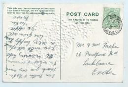 Single Circle - Cheriton Fitzpaine (Devon) On Embossed PC - Postmark Collection