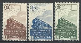 """FR Colis Postaux YT 174 à 176 """" Série Complète """" 1941 Neuf* - Paketmarken"""