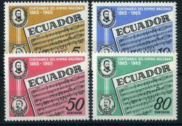 EQUATEUR ( POSTE ) : Y&T  N°  734/737  TIMBRES  NEUFS  SANS  TRACE  DE  CHARNIERE , A  VOIR . - Ecuador