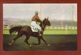 1 Cpa Postillon Calendrier Des Courses - Septembre 1967 Louis Sauve - Calendriers