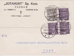 POLOGNE 1933 CARTE DE POZNAN - 1919-1939 Republic
