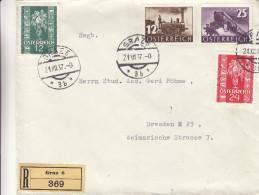 Autriche - Lettre Recommandée De 1937 ° - Oblitération Graz - Expédié Vers Dresden - Trains - Covers & Documents